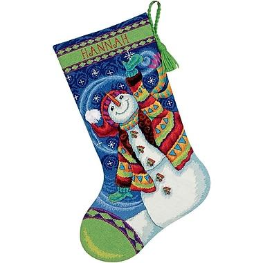 Happy Snowman Stocking Needlepoint Kit, 16