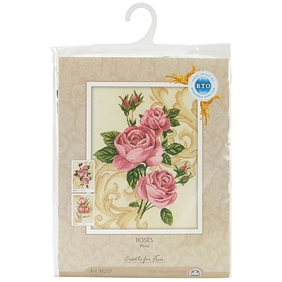 Roses Counted Cross Stitch Kit, 10-5/8