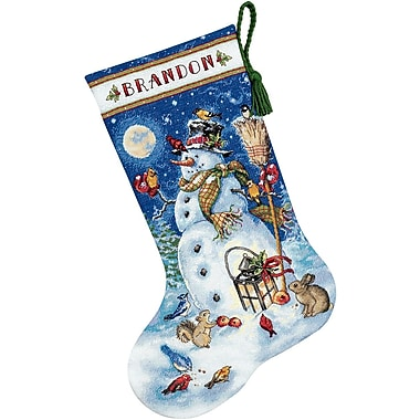Gold Collection Snowman & Friends Stocking Counted Cross Sti-16