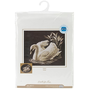 Swan Counted Cross Stitch Kit, 15-3/4