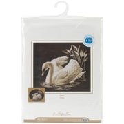 """Swan Counted Cross Stitch Kit, 15-3/4""""X13-3/4"""" 14 Count"""