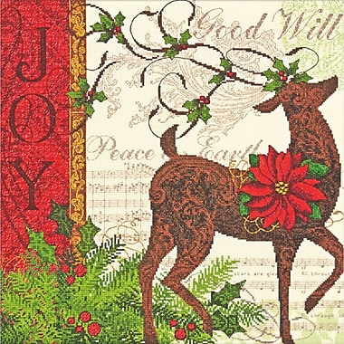 Gold Collection Winter Reindeer Counted Cross Stitch Kit, 12