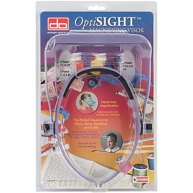 OptiSIGHT Magnifying Visor, Purple W/Three Lens Plates