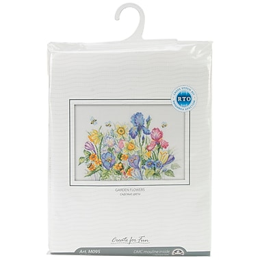 Garden Flowers Counted Cross Stitch Kit, 13-3/4