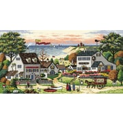 """Gold Collection Cozy Cove Counted Cross Stitch Kit, 18""""X9"""" 18 Count"""