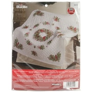 "Cardinal Lap Quilt Stamped Cross Stitch Kit, 45""X45"""
