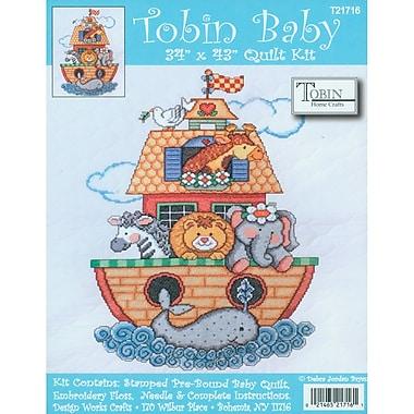 Noah's Ark Quilt Stamped Cross Stitch Kit, 34