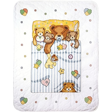 Under The Covers Baby Quilt Stamped Cross Stitch Kit, 34