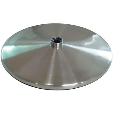 Slimline Table Lamp Base, Brushed Steel