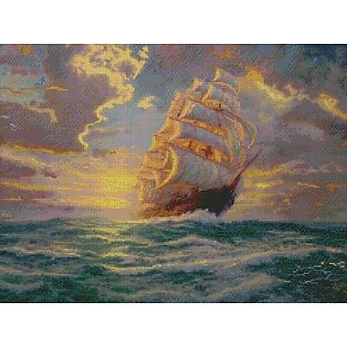 Thomas Kinkade Courageous Voyage Counted Cross Stitch Kit, 16