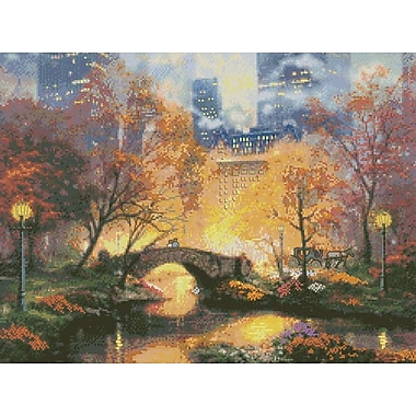 Thomas Kinkade Central Park Counted Cross Stitch Kit, 16