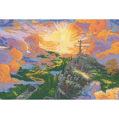 Thomas Kinkade The Cross Counted Cross Stitch Kit, 16
