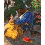 "Latch Hook Kit 21""X26"", Beauty & The Beast Falling In Love"