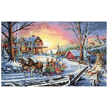 Gold Collection Pleasures Of Winter Counted Cross Stitch Kit, 16