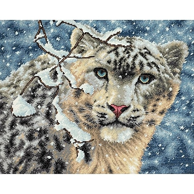 Gold Collection Snow Leopard Counted Cross Stitch Kit, 15