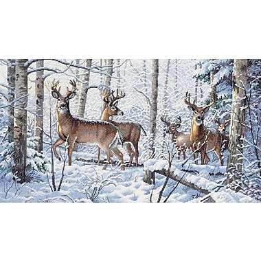 Gold Collection Woodland Winter Counted Cross Stitch Kit, 18