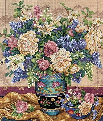 "Gold Collection Oriental Splendor Counted Cross Stitch Kit, 12""X14"" 18 Count"