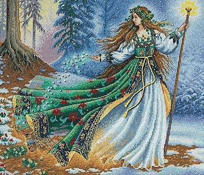 Gold Collection Woodland Enchantress Counted Cross Stitch Kit, 14