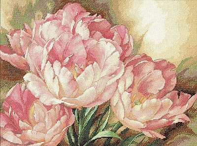 Gold Collection Tulip Trio Counted Cross Stitch Kit, 16