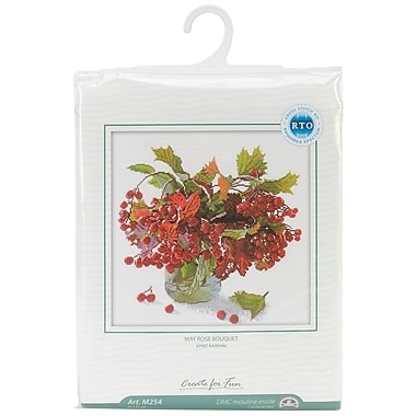 May Rose Bouquet Counted Cross Stitch Kit, 12-1/4