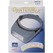 "OptiVISOR LX Binocular Magnifier,Lensplate #4 Magnifies 2x At 10"""