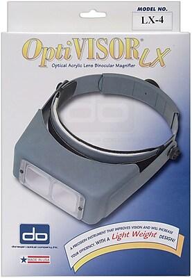 OptiVISOR LX Binocular Magnifier,Lensplate #4 Magnifies 2x At 10