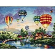 """Gold Collection Balloon Glow Counted Cross Stitch Kit, 16""""X12"""" 18 Count"""
