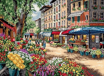 Gold Collection Paris Market Counted Cross Stitch Kit, 15