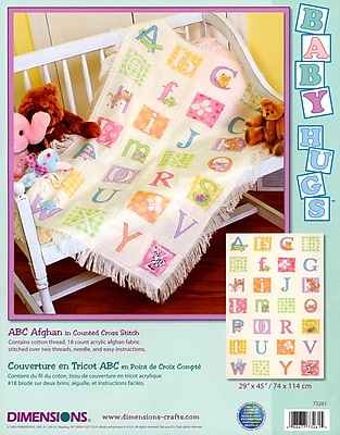 Baby Hugs ABC Afghan Counted Cross Stitch Kit, 29
