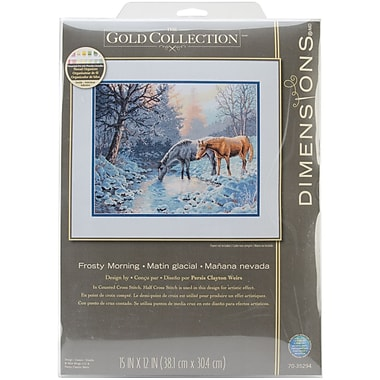 Gold Collection Frosty Morning Counted Cross Stitch Kit, 15