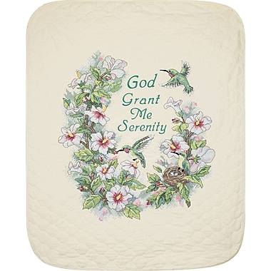Serenity Hummingbird Quilt Stamped Cross Stitch Kit, 34