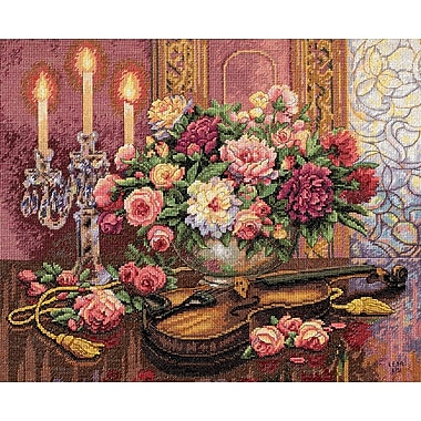 Gold Collection Romantic Floral Counted Cross Stitch Kit, 16