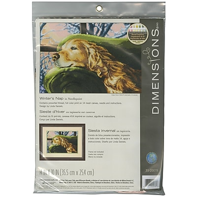 """""""""""Lounging Needlepoint Kit, 14""""""""""""""""X10"""""""""""""""" Stitched In Thread"""""""""""" 31268"""