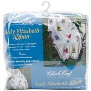 """Lady Elizabeth Afghan 52""""X60"""", Antique White"""