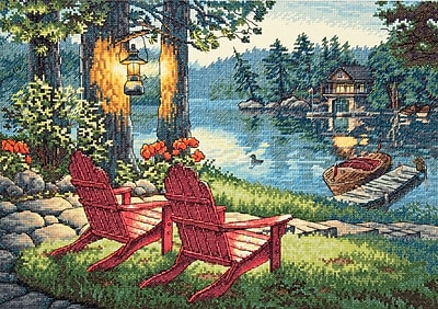 """""Gold Collection Twilight's Calm Counted Cross Stitch Kit, 16""""""""X11"""""""" 14 Count"""""" 32151"