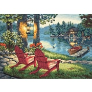 "Gold Collection Twilight's Calm Counted Cross Stitch Kit, 16""X11"" 14 Count"
