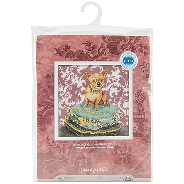 Ginger Chihuahua Counted Cross Stitch Kit, 9-3/4