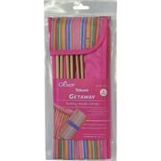 "Getaway Takumi Bamboo Single Point Knitting Needle Gift Set, For 9"" Sizes 8-15"