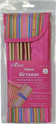 Getaway Takumi Bamboo Single Point Knitting Needle Gift Set, For 9