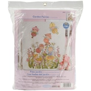 "Garden Fairies Crib Cover Stamped Cross Stitch Kit, 34""X43"""
