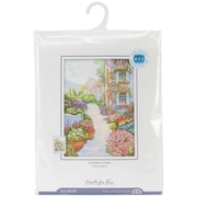 """Blooming Town Counted Cross Stitch Kit, 9-3/4""""X13-3/4"""" 14 Count"""