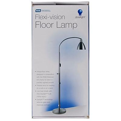 Flexi,Vision Floor Lamp, Silver