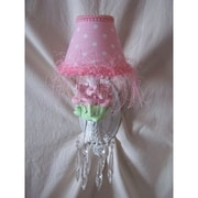 Silly Bear Baby Pink Flower 1-Light Candle Wall Light; Sweet and Simple Pink