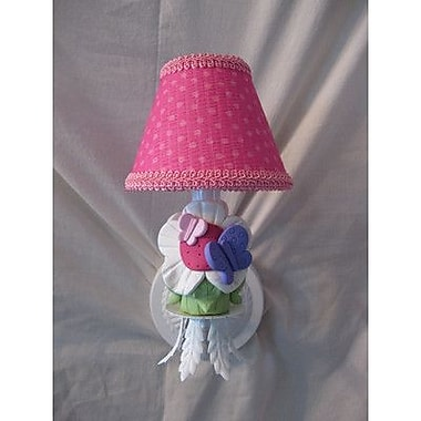 Silly Bear Butterfly Friends 1-Light Armed Sconce; Playful Petals