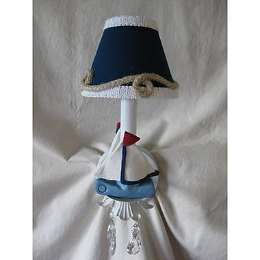 Silly Bear Nautical Sailboats 1-Light Armed Sconce; Sail Away With Me