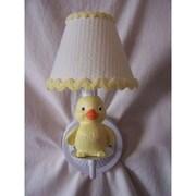 Silly Bear Rubber Duckie 1-Light Armed Sconce; Delightful Dots Lemonade