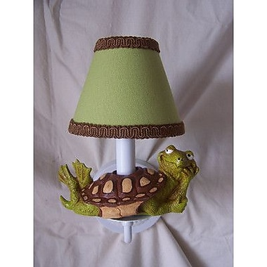 Silly Bear Tommy The Turtle 1-Light Candle Wall Light; Springtime Green