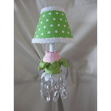 Silly Bear Tulip Bouquet 1-Light Armed Sconce; Jamestown Pink and Lime