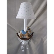Silly Bear Baby Rocking Horse 1-Light Armed Sconce; Rocking Dots