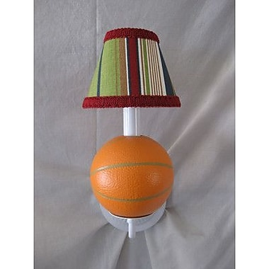 Silly Bear All Star Sports Basketball 1-Light Armed Sconce; Sports Stripe